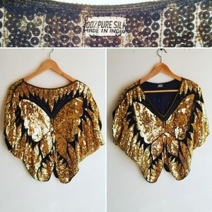 Vintage Butterfly Sequins